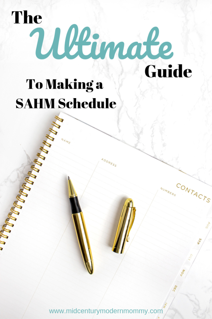 How to Make Your Own Vintage Housewife Daily Schedule at Mid-Century Modern Mommy!
