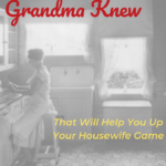 8 Things Your Grandma Knew That Will Help You Up Your Housewife Game
