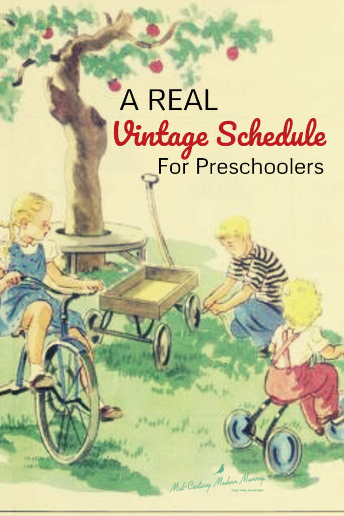 A REAL Vintage Schedule for Preschoolers