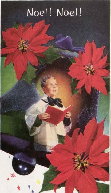 Poinsettias for a Very Vintage December. FTD ad, 1952