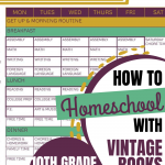 How We Homeschool Using Vintage Books: 10th Grade 2020-2021