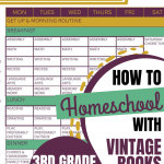How We Homeschool Using Vintage Books: 3rd Grade 2020-2021
