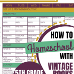 How We Homeschool Using Vintage Books: 5th Grade 2020-2021