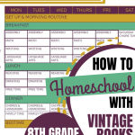 How We Homeschool Using Vintage Books: 8th Grade 2020-2021