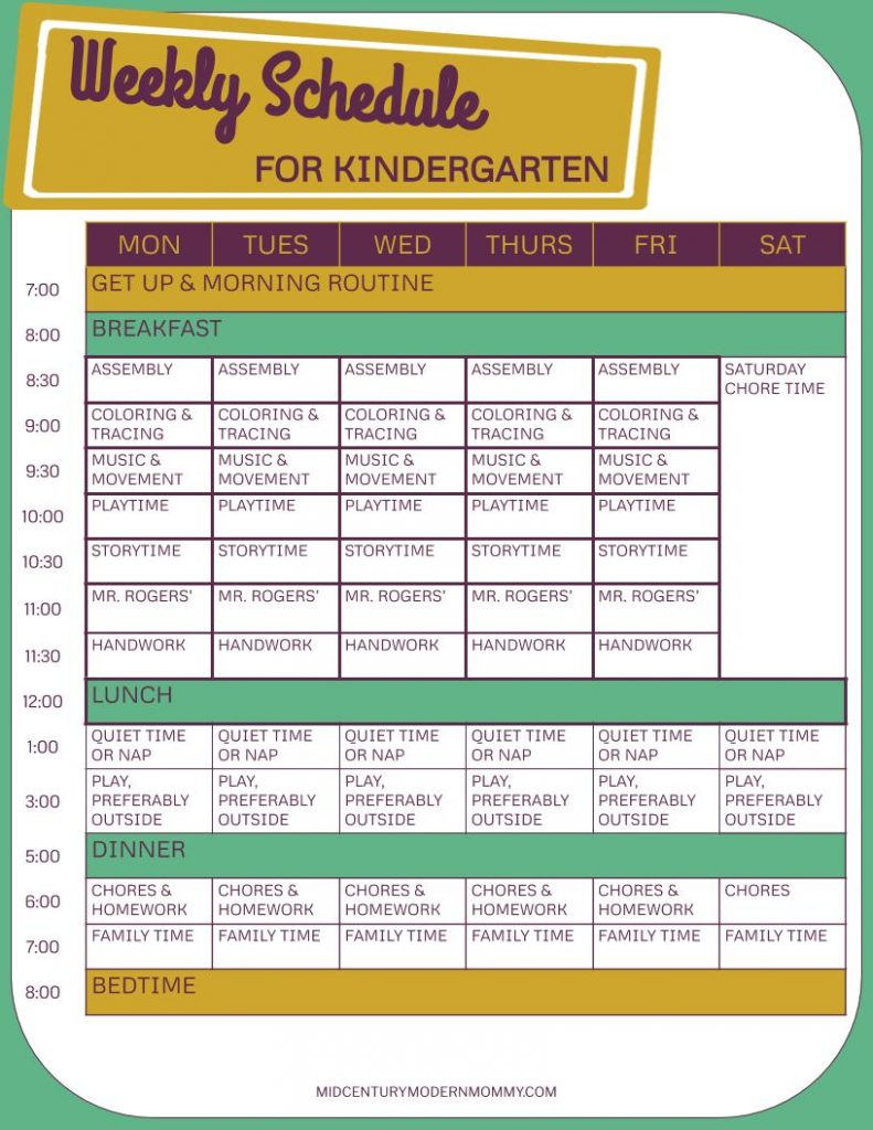 A Weekly Schedule for How to Homeschool Your Kindergartner with Vintage Books