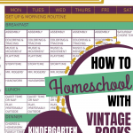 How We Homeschool With Vintage Books: Kindergarten 2020-2021
