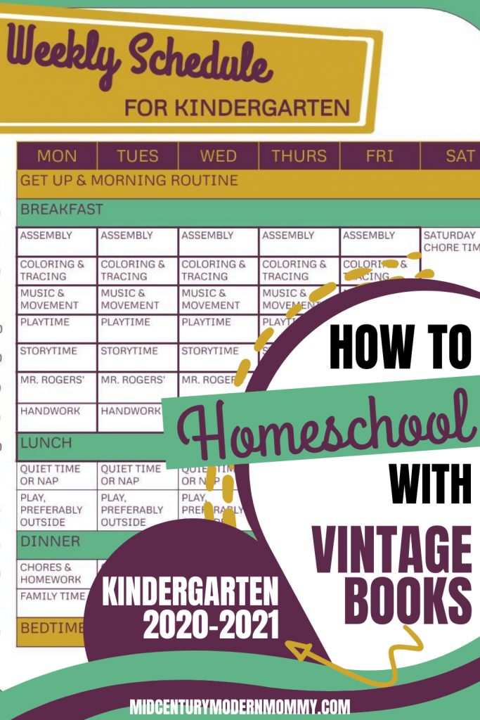 Pin this for How to Homeschool with Vintage Books Kindergarten 2020 edition!