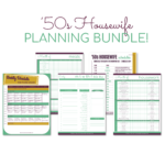 One Time Offer: The '50s Housewife Printable Planning Bundle